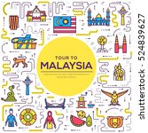 country malaysia travel... | Shutterstock .eps vector #524839627