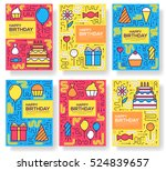 happy birtday party vector... | Shutterstock .eps vector #524839657