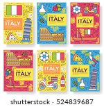 italy vector brochure cards... | Shutterstock .eps vector #524839687