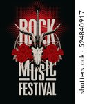 banner poster for festival rock ... | Shutterstock .eps vector #524840917