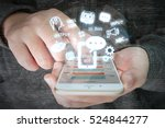 chat bot and future marketing... | Shutterstock . vector #524844277