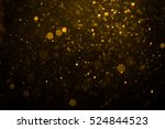 abstract gold bokeh with black... | Shutterstock . vector #524844523
