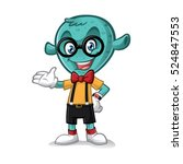 geek alien greeted with... | Shutterstock .eps vector #524847553