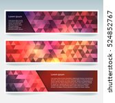 vector banners set with... | Shutterstock .eps vector #524852767