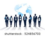 business people team crowd walk ... | Shutterstock .eps vector #524856703