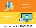 video tutorial editor... | Shutterstock .eps vector #524857207