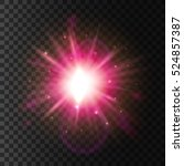 light flash blur. shining star... | Shutterstock .eps vector #524857387