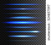 glowing light lines. vector set ... | Shutterstock .eps vector #524857597