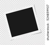 Square frame template with shadows isolated on transparent background. Vector illustration