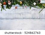 christmas decoration  xmas... | Shutterstock . vector #524862763