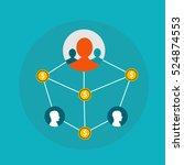 affiliate marketing  network...   Shutterstock .eps vector #524874553