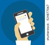 mobile apps rating   reviews  ... | Shutterstock .eps vector #524877067