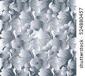 floral light seamless pattern...   Shutterstock .eps vector #524880457
