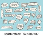 cute speech bubble background | Shutterstock . vector #524880487
