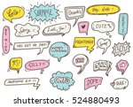 cute speech bubble background | Shutterstock . vector #524880493
