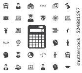 calculator icon. education... | Shutterstock .eps vector #524881297