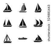 maritime transport icons set....