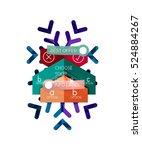 christmas sale info banner ... | Shutterstock .eps vector #524884267
