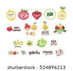 Set Of Organic  Bio  Eco And...