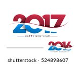 happy new year 2017   2016 text ... | Shutterstock .eps vector #524898607