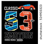 classic turbo car t shirt print ... | Shutterstock .eps vector #524903323