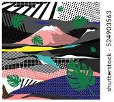 trendy vector cards... | Shutterstock .eps vector #524903563