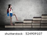 image of a female college... | Shutterstock . vector #524909107