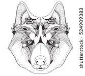 vector illustration of husky... | Shutterstock .eps vector #524909383
