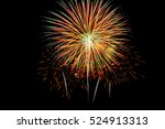 Colorful New Year Fireworks...