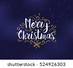 merry christmas text design.... | Shutterstock .eps vector #524926303