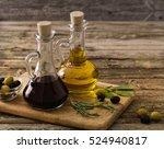 olive oil and balsamic vinegar... | Shutterstock . vector #524940817