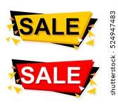 flat design sale stickers.... | Shutterstock .eps vector #524947483