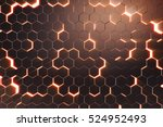 abstract red of futuristic...   Shutterstock . vector #524952493
