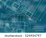 mechanical engineering drawing. ... | Shutterstock .eps vector #524954797