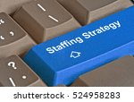 key for staffing strategy | Shutterstock . vector #524958283