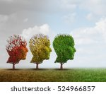 dementia treatment and... | Shutterstock . vector #524966857