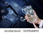 transparent futuristic smart... | Shutterstock . vector #524966893