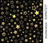gold shine stars seamless... | Shutterstock .eps vector #524967277