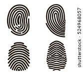 black fingerprints set print... | Shutterstock .eps vector #524968057