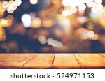 empty of wood  table top with ... | Shutterstock . vector #524971153