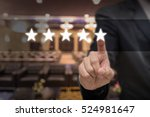 businessman pointing five star... | Shutterstock . vector #524981647
