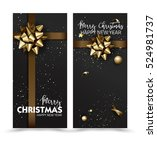 merry christmas or happy new... | Shutterstock .eps vector #524981737