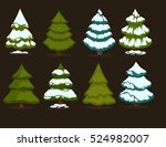 christmas tree set of green... | Shutterstock .eps vector #524982007