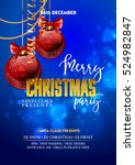 christmas party design template ... | Shutterstock .eps vector #524982847