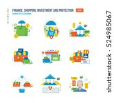 finance  business  shopping ... | Shutterstock .eps vector #524985067