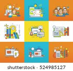 modern technology  technical... | Shutterstock .eps vector #524985127