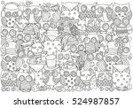 pattern for coloring book. a4... | Shutterstock . vector #524987857