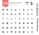 healthcare and medical icon set.... | Shutterstock .eps vector #524988733
