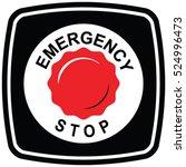 emergency stop push button... | Shutterstock .eps vector #524996473