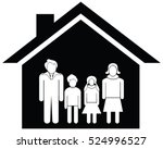 home and family stock vector... | Shutterstock .eps vector #524996527